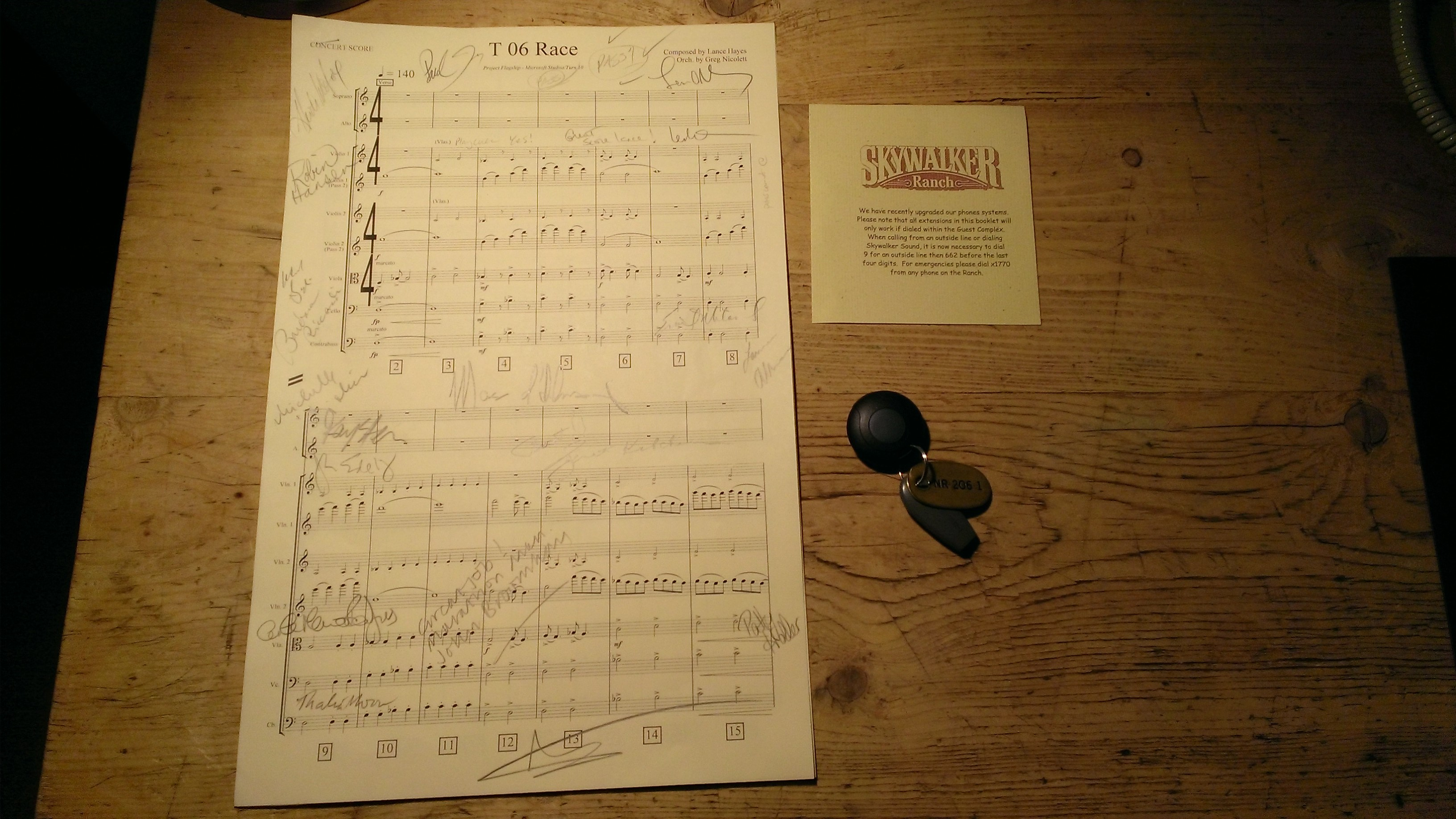 image of conductor's score from Forza Motorsport 5